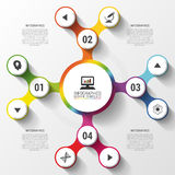 Modern business colorful infographics option. Abstract Vector illustration Stock Photo