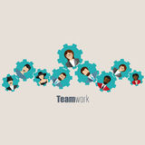 Modern Business Concept, The idea of teamwork and success Royalty Free Stock Photo