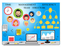 Modern  business concept, team. Sleek lines  illustration. Data analysis, statistics, financial studies and strategy Stock Photos