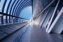 Modern business corridor Stock Photos