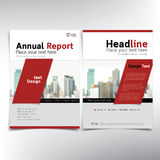 Modern business cover page, vector template, condominium and real estate concept Royalty Free Stock Photography