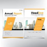 Modern business cover page, vector template, condominium and real estate concept Royalty Free Stock Photos