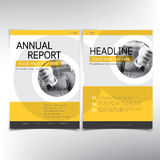 Modern business cover page, vector template, yellow theme Royalty Free Stock Images