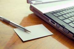 Modern business desk stock photography