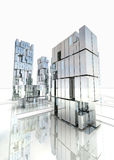 Modern business district design with sky royalty free stock photography