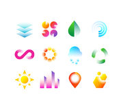 Free Modern Business Emblems With Geometric Shapes. Abstract Vibrant Color Logo Vector Design Collection Stock Photos - 98345163