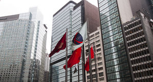 The modern business and financial center Hong Kong. Stock Images