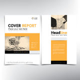 Modern business and financial cover page, vector template. Can be used for annual report, flyer, brochure, leaflet and more Stock Photography