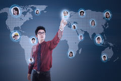 Modern Business Futuristic Interface Royalty Free Stock Photos