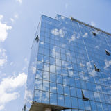 Modern business glass building. National bank of Serbia, Belgrade Royalty Free Stock Photo