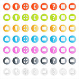 Modern business icon set with shadows Royalty Free Stock Photo