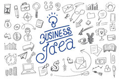 Modern business idea typography and element. Stock Image