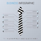 Modern business infographic concept. Businessman. Vector illustration Royalty Free Stock Photography