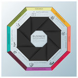 Modern Business Infographic Octagon Propeller Origami Style Stock Photo