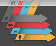 Modern business infographic, set of abstract arrows. Royalty Free Stock Photography