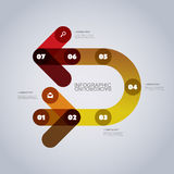 Modern Business Infographic Template - Abstract Arrow Shapes Stock Image