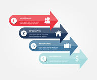 Modern business infographic Vector illustration Royalty Free Stock Photography