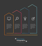 Modern business infographic Vector illustration.  royalty free illustration