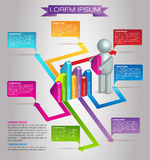 Modern Business Infographic Vector Stock Image