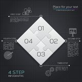 Modern business infographic for your presentation. Four puzzle pieces. Vector. Modern business infographic for your presentation. Four puzzle pieces Stock Images
