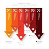 Modern business infographics abstract arrows. Royalty Free Stock Images