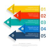 Modern business infographics abstract arrows. Can be used for workflow layout, diagram, step up options stock illustration