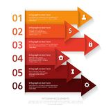 Modern business infographics abstract arrows. Vector illustration Royalty Free Stock Photography