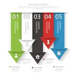 Modern business infographics abstract arrows. Vector illustration. Royalty Free Stock Image