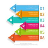 Modern business infographics abstract arrows. Vector illustration. can be used for workflow layout Royalty Free Stock Photography