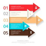 Modern business infographics abstract arrows. Vector illustration. can be used for workflow layout,  number options Stock Photos