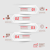 Modern business infographics arrow background. Modern business infographics paper cut arrow background. Vector illustration. can be used for workflow layout Stock Photos