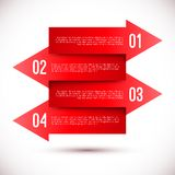 Modern business infographics arrow template Royalty Free Stock Photos