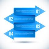 Modern business infographics arrow template. Stock Photos