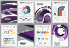 Modern business infographics and brochures. Brochures and flyers template with charts and infographics elements. For business  presentation, poster, cover Royalty Free Stock Photos