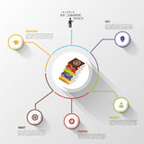 Modern business Infographics circle with books. Vector Royalty Free Stock Photo