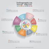 Modern business Infographics circle layout. Vector Royalty Free Stock Image