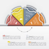 Modern business Infographics circle layout. Vector Stock Photo