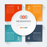 Modern business infographics circle Royalty Free Stock Photography
