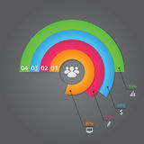 Modern business infographics circle origami style. Options banner. Vector illustration Stock Photos