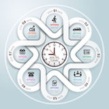 Modern business Infographics circle origami style. Royalty Free Stock Images