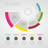 Modern business Infographics circle origami vector. Can be used for workflow layout, banner, diagram, number options, step up options, web design. Illustration Royalty Free Stock Photo