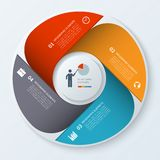 Modern business infographics circle. Stock Photography