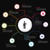 Modern business Infographics circle. Vector illustration Royalty Free Stock Image