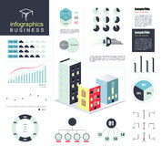 Modern business infographics element set. vector illustration Royalty Free Stock Images