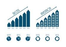 Modern business infographics elements Stock Photos