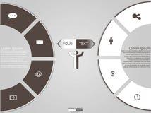 Modern business infographics Stock Image
