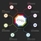 Modern business Infographics Octagon. Vector illustration Royalty Free Stock Images