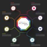 Modern business Infographics Octagon. Vector illustration.  vector illustration