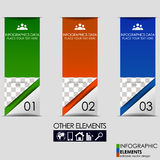 Modern business infographics option banner Royalty Free Stock Photography