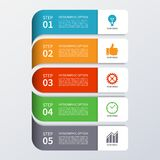 Modern business infographics options banner Royalty Free Stock Photo